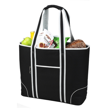 Large Black Insulated Cooler Tote by Picnic at Ascot