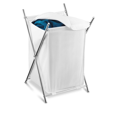 Chrome Folding Hamper with Cover by Honey-Can-Do