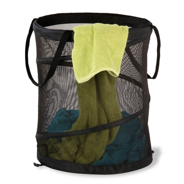 Large Mesh Pop Open Black Hamper by Honey-Can-Do