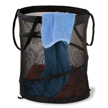 Medium Mesh Pop Open Black Hamper by Honey-Can-Do