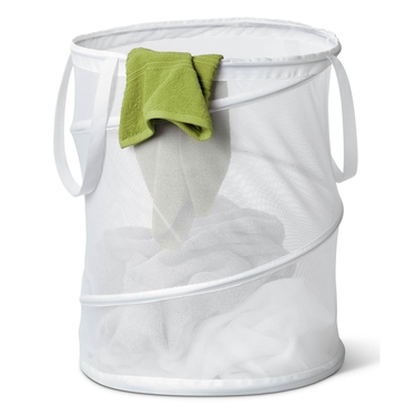 Medium Mesh Pop Open White Hamper by Honey-Can-Do