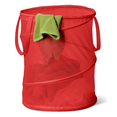 Medium Mesh Pop Open Red Hamper by Honey-Can-Do