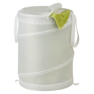 Medium Nylon Pop Open White Hamper by Honey-Can-Do