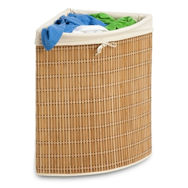 Bamboo Wicker Corner Hamper by Honey-Can-Do