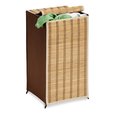 Tall Bamboo Wicker Hamper by Honey-Can-Do