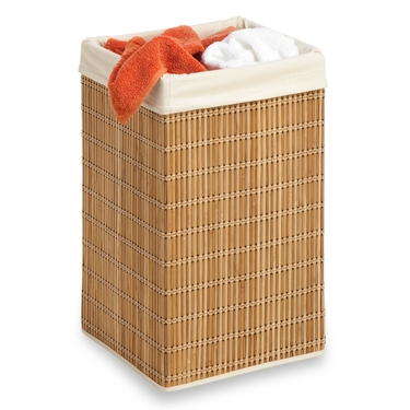 Square Bamboo Wicker Hamper by Honey-Can-Do