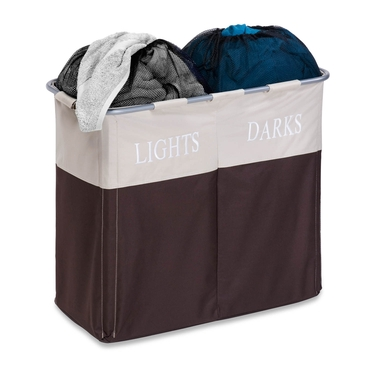 Dual Compartment Light/Dark Hamper by Honey-Can-Do