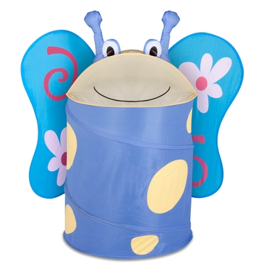 Kid's Large Pop Up Butterfly Laundry Hamper by Honey-Can-Do