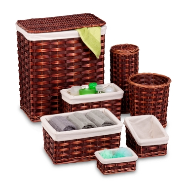 7 Piece Wicker Hamper Set by Honey-Can-Do