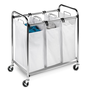 Heavy Duty 3 Section Chrome Laundry Sorter by Honey-Can-Do