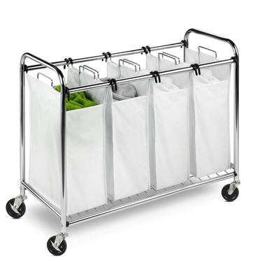 Heavy Duty Quad Chrome Laundry Sorter by Honey-Can-Do