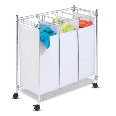 Urban Chrome Rolling Triple Sorter by Honey-Can-Do