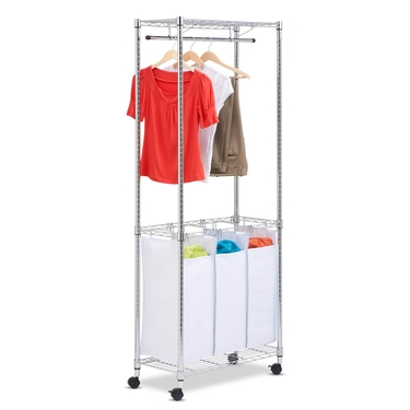 Urban Chrome Rolling Laundry Center by Honey-Can-Do