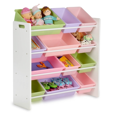 Kids White 12 Bin Storage Organizer by Honey-Can-Do