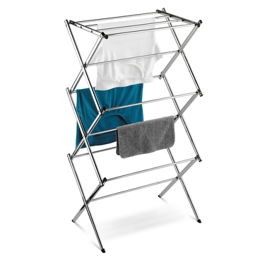 Commercial Chrome Accordian Drying Rack by Honey-Can-Do