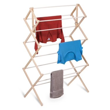Heavy Duty Wood Accordion Drying Rack by Honey-Can-Do