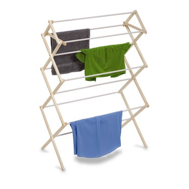 Large Wood Knockdown Drying Rack by Honey-Can-Do