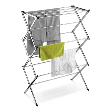 Commercial Chrome Accordion Drying Rack by Honey-Can-Do