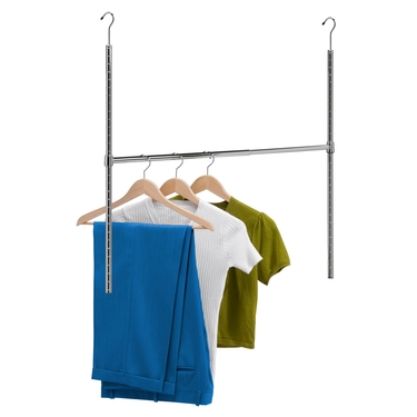 Chrome Adjustable Hanging Closet Rod by Honey-Can-Do