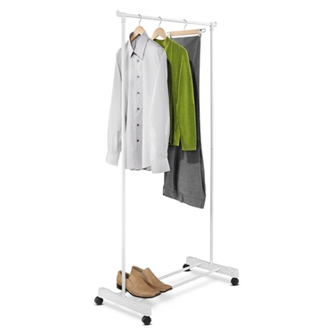 Portable White Garment Rack by Honey-Can-Do