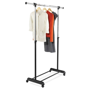 Expandable Chrome/Black Garment Rack by Honey-Can-Do