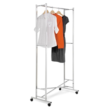 Square Tube, Chrome Folding Garment Rack by Honey-Can-Do