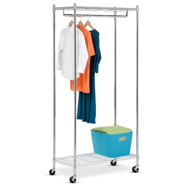 Urban Deluxe Commercial Chrome Garment Rack by Honey-Can-Do