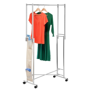 Steel Double Folding Square Tube Garment Rack by Honey-Can-Do
