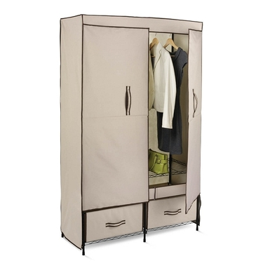 Double-Door Wardrobe w/ Two Drawers by Honey-Can-Do