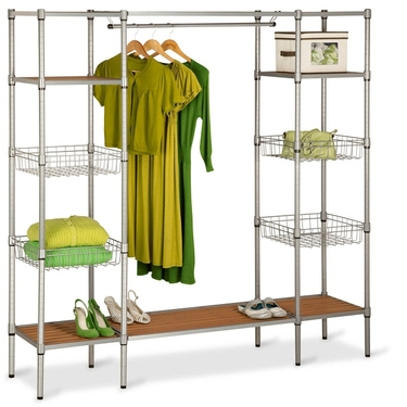 Freestanding Steel Closet w/ Basket Shelves by Honey-Can-Do