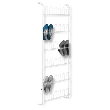 18 Pair Odd White Shoe Rack by Honey-Can-Do