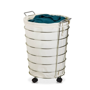 Chrome Rolling Hamper by Honey-Can-Do