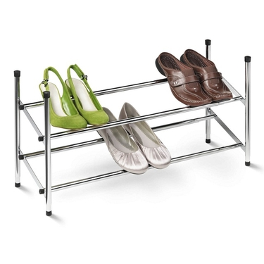 Expandable Chrome Shoe Rack by Honey-Can-Do