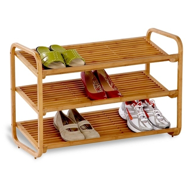 3-Tier Deluxe Bamboo Shoe Shelf by Honey-Can-Do