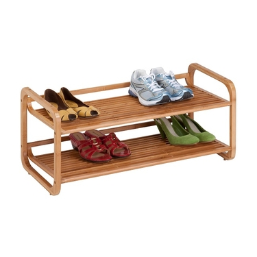 2-Tier Stackable Bamboo Shoe Shelf by Honey-Can-Do