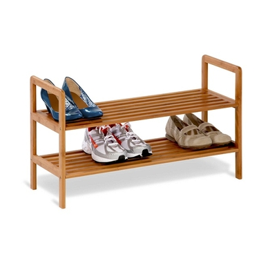 2 Tier Bamboo Shoe Shelf by Honey-Can-Do