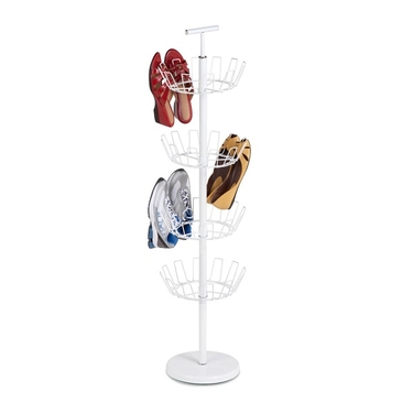 4 Tier White Shoe Tree by Honey-Can-Do