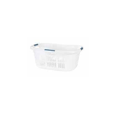 White Rubbermaid Large Hip Hugger Laundry Basket 2.1 bu-74L