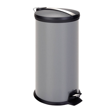 30L Gray Metal Step Trash Can by Honey-Can-Do