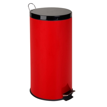 30L Ruby Red Step Trash Can by Honey-Can-Do