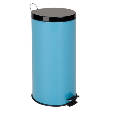 30L Blue Metal Step Trash Can by Honey-Can-Do