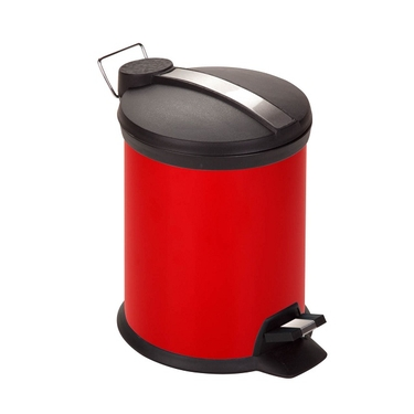 3L Red Step Trash Can by Honey-Can-Do