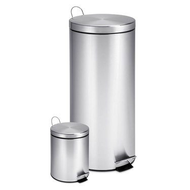 30L & 3L Stainless Steel Step Can Combo by Honey-Can-Do