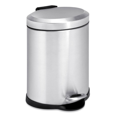5L Oval Stainless Steel Step Can by Honey-Can-Do