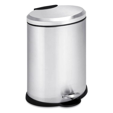 12L Oval Stainless Steel Step Can by Honey-Can-Do
