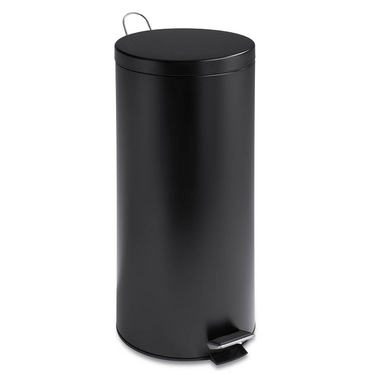 30L Round Black Matte Can w/ Bucket by Honey-Can-Do