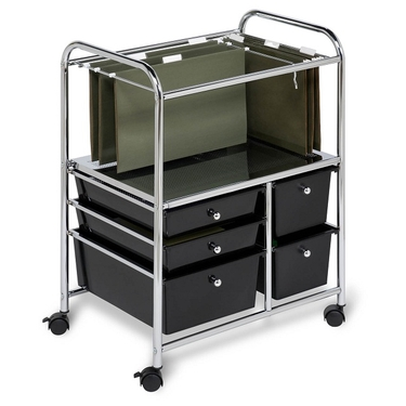 5 Drawer Hanging File Cart by Honey-Can-Do