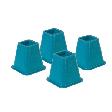 Blue Bed Risers- Set of 4 by Honey-Can-Do