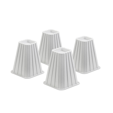Ivory Bed Risers- Set of 4 by Honey-Can-Do