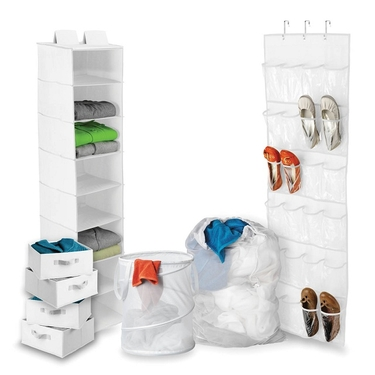 White Back to School/Home Organization Kit by Honey-Can-Do